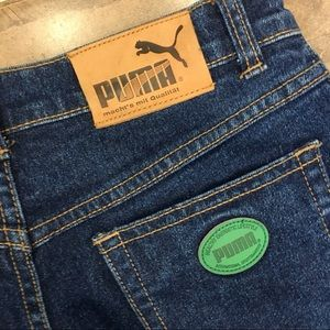 80's Puma Mom Jeans Vintage High Rise Wash